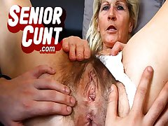 In the air close pov superannuated vagina fingering with of age Greta