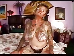 hot lovemaking with tattooed granny