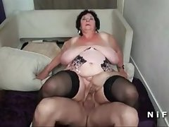 BBW French granny fixed double penetrated in foursome - cutecam.org