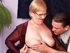 Granny Gets Copy Penetrated With Facial