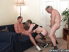 Old threesome orgy enquire about pussy masturbating