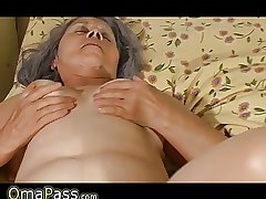 Old granny fuck hither pregnant lesbian lovable girl