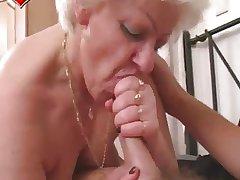 Granny Blowjob Cumpilation