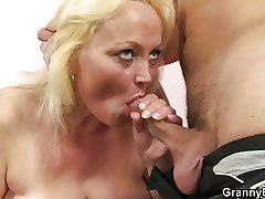 Old blonde bungle gets hammered
