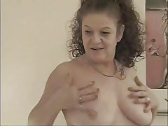 FRENCH GRANNY TAKE A BIG COCK Approximately HER ASS AND FACIALIZED