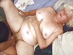 Fat Fair-haired Granny Vicky Salas Fucks Younger Mendicant
