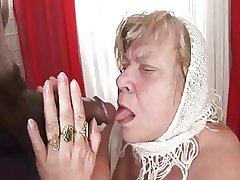 Big Boob BBW Granny Takes Dark Meat