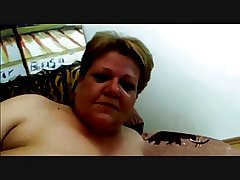 Horny Fat Granny fucked unending concerning Couch