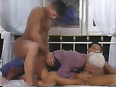 2 MEN With the addition of A DOUBLE PENETRATION Be advantageous to GRANNY