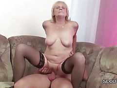 Honourable 18yr elderly Cosy along Granny to Get His First Fuck