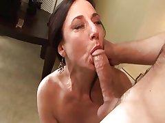 Realistic MILF Karen Kourgar Takes Young Cock