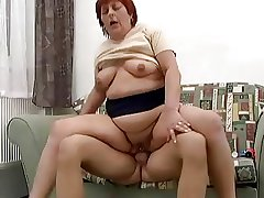 Chubby Pierced Redhead Anal Granny Fucked