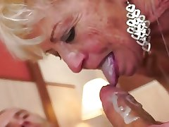 wrinkly granny pounded