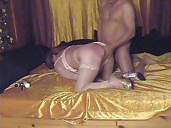 Spanking very horny Granny