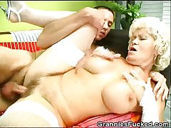 Granny Gets Fucked With an increment of Gets A Mouthful Of Jizz