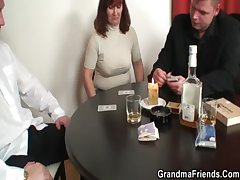 She loses in poker added to gets fucked by two guys
