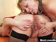 Amateur wives bonking each other with a rubber cock