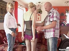 I unequalled downtrodden my GF up threesome near my parents