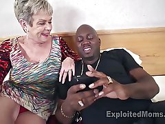 Busty Granny respecting Creampie Film over