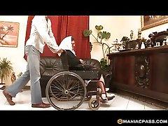 Wheelchair kick the bucket a hard fuck