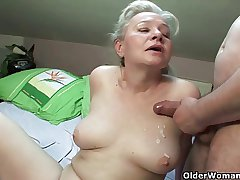 Grandma craves load of shit added to cum