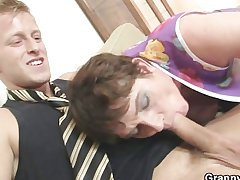 Ancient mom spreads their way feet for hard cock