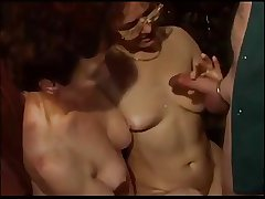Vintage of age granny BBW gangbang tow-haired