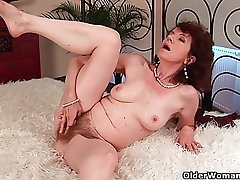 Full-grown mom anent hairy crotch with the addition of armpits fucked deep