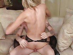 Hot Blonde Granny Keri Banging Young Stud