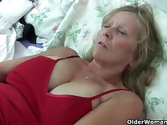 Grandma Isabel about will not hear of big breasts rips open will not hear of pantyhose