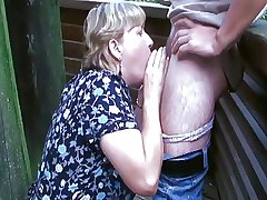 Chubby Aged Lady Takes a Dick