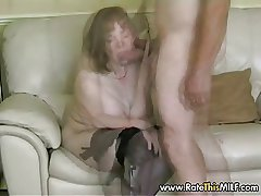 Rate My MILF - granny matured in stockings sucking blarney