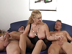 XXX Omas - German mature gets fucked hard close by threesome