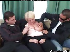Busty Mature  Is Best-liked At hand And Fucked By A Three Saleable Guys mature mature..
