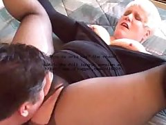 Hot Blonde Curvy Layman Granny Banging