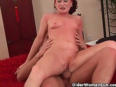 Red hot grandma gets their way small soul covered in cum