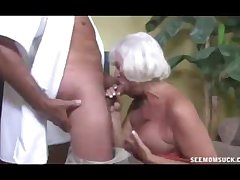 Horny Granny Grabs The Thick Rod Be proper of Guard