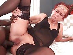 My erotic piercings - pierced granny BBC anal