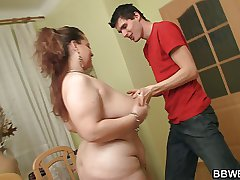 XXX obesity gets nailed on rub-down the floor