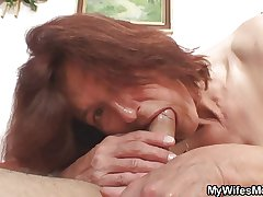 Lewd granny having it away the brush son in law