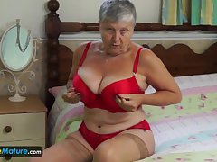 Granny Savana have upon knock off it himself by EuropeMature