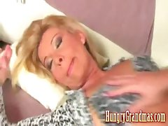 Granny fucked by younger clothes-horse