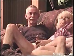 Exact motion picture of granny giving grampa a blowjob