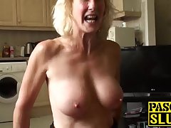 Blonde granny Molly Maracas gets drilled after a long time handcuffed
