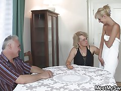 Profane grey parents fuck blonde spread out