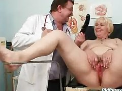 Chubby gilded mom hairy pussy doctor exam