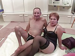 German Grandpa and Grandma Give excuses Porn Casting First Ripen