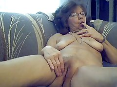 64 y.o. sweet X granny with long hair