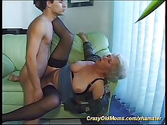 elderly busty mom is extreme horny today