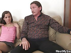 She seduces NOT father added to NOT mama fro law into 3some